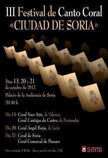 """III FESTIVAL DE CANTO CORAL """"CIUDAD DE SORIA"""""""