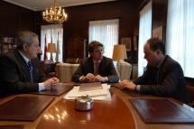 Comunicaciones y promoción turística protagonizan la primera reunión entre los alcaldes de Soria y Calatayud