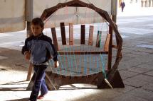 """Las """"Estructuras musicales"""" de Etienne Favre llenarán de sonido e imaginación la Plaza Mayor hasta el próximo viernes"""
