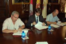 El Ayuntamiento firma sendos convenios de colaboración con la JOSS y la Coral de Soria para dos conciertos de la agrupación sinfónica y el I Encuentro de Corales