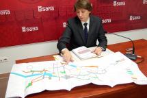 """El Alcalde de Soria viaja a Valladolid para entregar a la Junta un """"Plan B"""" y poder sacar adelante la peatonalización y el parking del centro de Soria"""