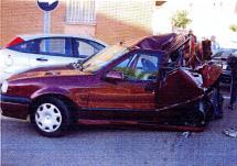 Un accidente de circulación se salda con dos heridos y un detenido