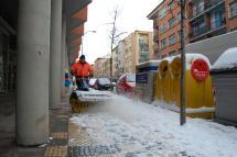 Continúa activo el Plan de Nieve ante la nevada continua desde la noche de ayer