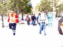 Los Bomberos del Ayuntamiento de Soria rescatan en la Sierra Cebollera a un excursionista con una pierna fracturada