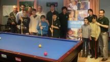 Los jugadores de la Escuela Municipal de Billar participan este sábado 2 de abril en una competición regional en Valladolid