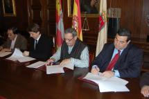 El Ayuntamiento de Soria firma cuatro convenios para la promoción del comercio y la actividad empresarial en la capital