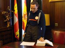 Hoy han tomado posesión de su cargo cuatro nuevos bomberos conductores del Parque de Soria