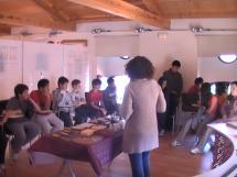 Alumnos de 5º y 6º de Primaria del colegio La Arboleda visitan las exposiciones del Centro de Recepción de Visitantes con la artista Isabel Pastor