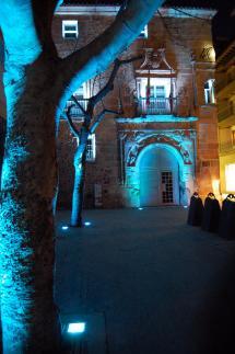 Realizadas las pruebas de iluminación del Palacio de los Ríos y Salcedos  y la Plaza de San clemente