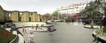 El Rincón de Bécquer recibe los bancos y muros en color blanco que marcarán la estética de la actuación