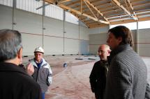 Carlos Martínez visita las obras de la segunda fase de la reforma del Complejo Deportivo de San Andrés