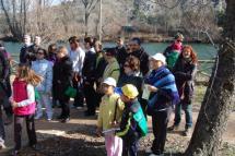 Más de 300 personas participan en la primera ruta de Senderos del Duero y conocen las actuaciones en la margen derecha
