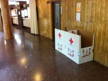 Cruz Roja de Soria coloca dos contenedores para recogida de alimentos en la Casa Consistorial