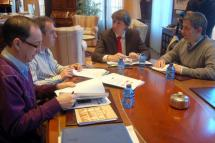 Los alcaldes de Soria, Golmayo y Los Rábanos trabajan un documento para solicitar a Acuanorte un convenio con mejores condiciones de interés, plazos y gestión