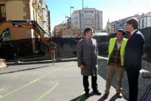 Carlos Martínez visita el inicio de las obras del parking de Mariano Granados y el Espolón con una inversión total de más de 12 millones de euros