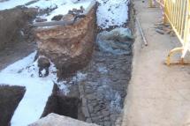 Las obras de la tubería del Castillo se reanudan con el visto bueno de Patrimonio