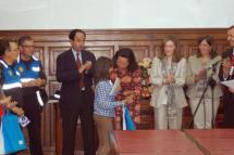 """Lourdes Andrés destaca """"la capacidad de aprender y transmitir de los  niños"""" en la clausura del XII Concurso de Tráfico"""