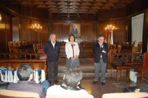 Rosa Romero recibe en el Ayuntamiento a la Asociación Española de Críticos Literarios que mañana darán a conocer sus fallos de 2012 en narrativa y poesía