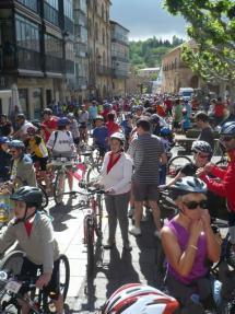 El Día de la Bici reúne a 1.220 ciclistas en el trazado entre la Plaza Mayor y Valonsadero