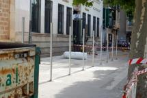 Las obras del parking del Espolón arrancan hoy con el vallado perimetral, la retirada del mobiliario urbano y la coordinación de los servicios de contenedores, transporte y zona azul