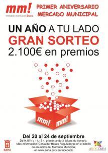 El Mercado Municipal celebra 'Un año a tu lado' con el sorteo de 420 premios directos