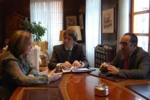 Primera reunión de trabajo entre el alcalde de Soria y la subdelegada de Gobierno