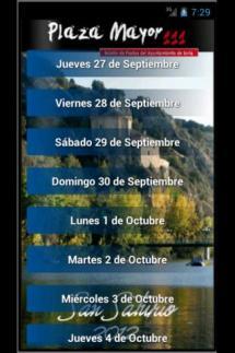 """El Ayuntamiento activa """"como prueba piloto"""" una aplicación de móvil con el programa festivo de San Saturio"""