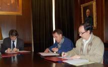 Soria, Golmayo y Los Rábanos siguen avanzando y firman los convenios aprobados en Pleno para presentarlos mañana al Ministerio