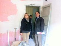 Visita a las obras en las viviendas de la calle San Benito