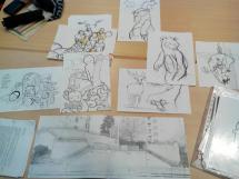 Primeros bocetos y zona donde se actuará.