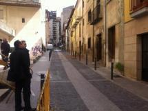 Luis Rey visita las obras de demolición de Puertas de Pro.
