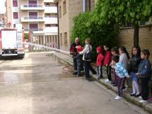 Imagen de los niños de Fuente del Rey en su visita al parque.