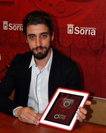 Diego Mayor ha presentado en el Ayuntamiento la aplicación Soria Ocio.
