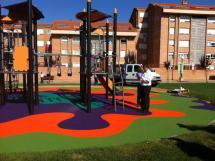 Zonas de recreo para niños al aire libre.