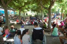 Teatro infantil en el parque de La Dehesa dentro de la Feria del Libro.