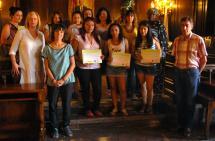 Imagen de las participantes del curso que hoy han recogido sus diplomas.