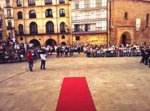 Los Jurados, a su llegada a la Plaza Mayor.