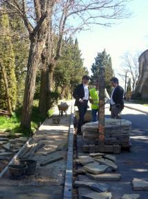 Imagen de las nuevas aceras que rodearán el parque del Castillo