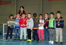 Equipo ganador de la categoría prebenjamín, Infantes de Lara A.